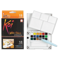 Koi Watercolour Set with Water Brush 18 Colours