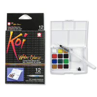Koi Watercolour Set with Water Brush 12 Colours