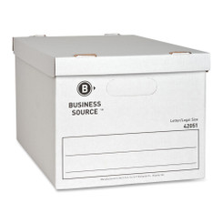 Business Source File Box White with Lid