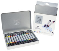 Winsor & Newton Water Colour Markers 2-end Brush / Fine