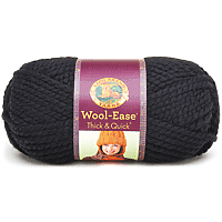 Lion Brand Wool-Ease Thick & Quick Yarn 160yards Black