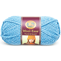 Lion Brand Wool-Ease Thick & Quick Yarn 160yards Sky Blue