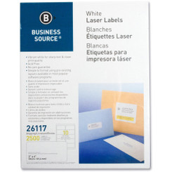 "BSN Labels 80/pg .5x1.75"" 100 sheet pack copier/printer safe"