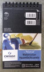 "Canon Montval Watercolour Pad 5.5x8.5"" Coil 140lb 12pg"