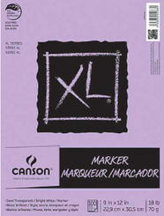 Canson Marker Paper Pad 18lb 9x12 100pg