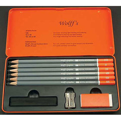 Wolff's Graphite Sketch & Drawing Set 9pc + tin