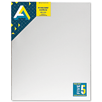 "AA Canvas Set 5pk 16x20 narrow 3/4"" edge back stapled"