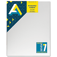 "AA Canvas Set 7pk 11x14 narrow 3/4"" edge back stapled"