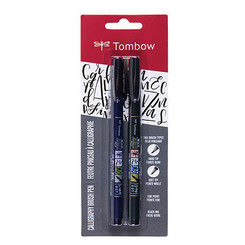 Tombow Fudenosuke Brush Pens 2pk (hard & soft tip)