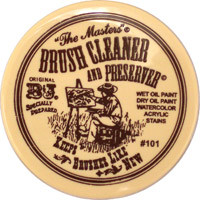 B&J Artists Brush Cleaner Jar 2.5oz/70.75g
