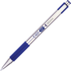 Zebra Pen F301 .7mm Click Blue (refills available)