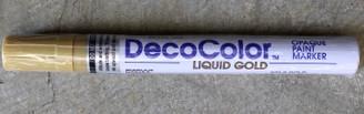 Decocolour Paint Pens Broad Tip Gold