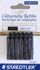Staedtler Calligraphy Ink Refills 12pk Black