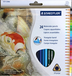 Staedtler Triangular Barrel Watercolour Pencils 24pk