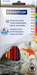 Staedtler Triangular Barrel Watercolour Pencils 12pk
