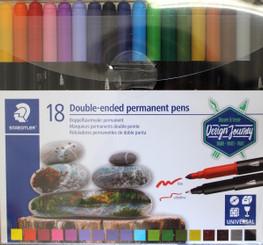 Staedtler Twin-Tip Permanent Pens 18pk
