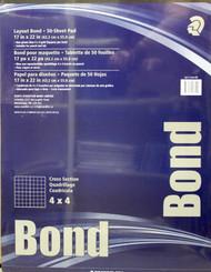 "Staedtler Grid Paper 4x4 grid  17x22"" 50pg"