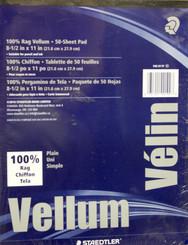 Staedtler Vellum Pad 50pg 8.5x11 100% rag