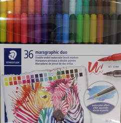 Staedtler Marsgraphic Duo 36pk 2-end Watercolour Brush pens