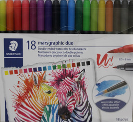 Staedtler Marsgraphic Duo 18pk 2-end Watercolour Brush pens