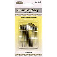 Embroidery Needles 16/pk assorted sizes #3-9