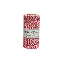 Hemptique Baker's Twine 410ft White + Red twist