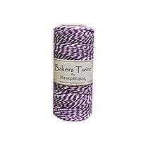 Hemptique Baker's Twine 410ft White + Purple twist
