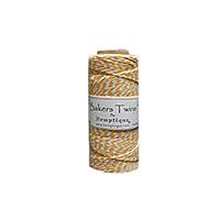 Hemptique Baker's Twine 410ft White + Yellow twist