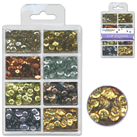 Craft Medley Cup Sequins 7mm Metallics 25g
