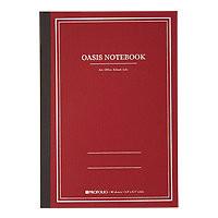 "Portfolio Oasis Notebook Red Soft Cover Dot & Line grid 5.8x8.3"""