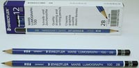 Staedtler Lumograph Drawing/Sketching Pencil H EACH