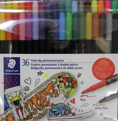 Staedtler Twin-Tip Permanent Pens 36pk