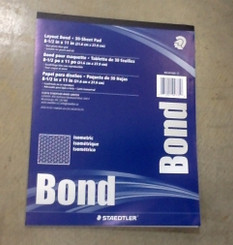 Staedtler Layout Bond Grid Isometric 30 sheet Pad 8.5x11