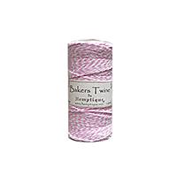 Hemptique Baker's Twine 410ft White + Light Pink twist