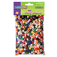 Pony Beads Bright Hues 1000pk