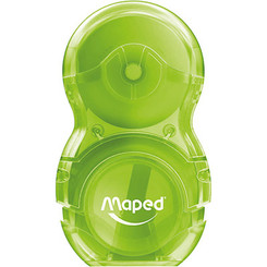 Mapped Sharpener & Eraser Combo - GREEN