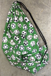 Draw-String Bag / Back-pack Soccer Printed Fabric