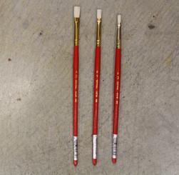 Value Paint Brush Natural Hog Bristle Flat #0