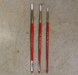 Value Paint Brush Natural Hog Bristle Round #0