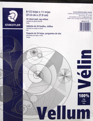 Staedtler Vellum Pad 50pg 11x17 100% Rag