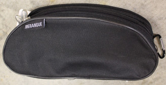 Pencil Case 2-zip Fabric Black 9x4x3""