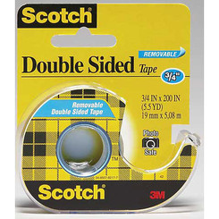 "Scotch Double-Sided Removable Tape 1/2"" wide (Yellow/Blue)"