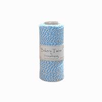 Hemptique Baker's Twine 410ft White + Light blue twist