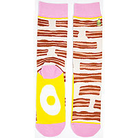 Crew Socks Bacon & Eggs