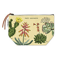 Cavillini Vintage Pencil Case Pouch Succulents