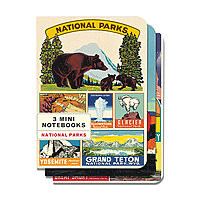 Cavillini Mini Notebooks 3pk National Parks