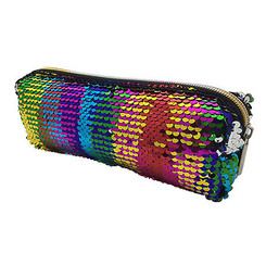 Zip Case Rainbow Sequin 4x8x2""