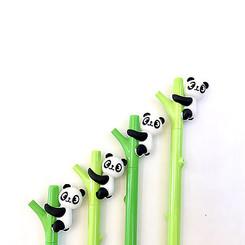 Gel Pen Panda on Bamboo