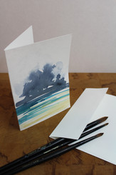 J Gleadhill Hand-Painted Art Card - Abstract Beach
