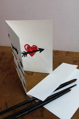 J Gleadhill Hand-Painted Art Card - Cupid's Arrows